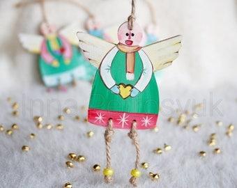 Angel Christmas ornaments handmade. Wooden handmade Christmas ornaments. Xmas gifts. Xmas decorations.