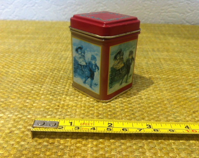 Vintage box can Decoration dollhouse accessoires shabby