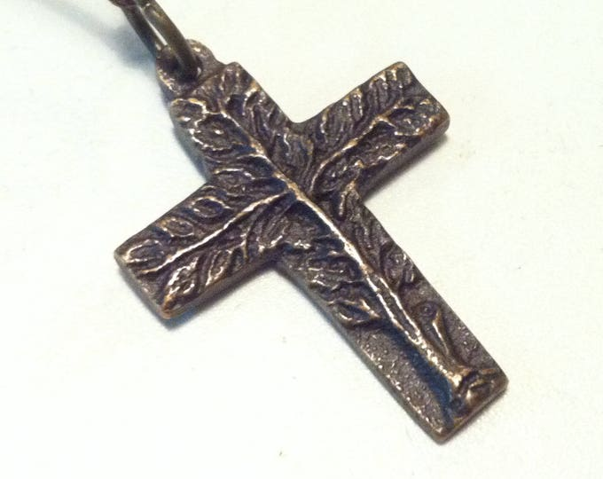 Vintage Metal Christianity Cross pendant Spiriuality Communion decoration #5