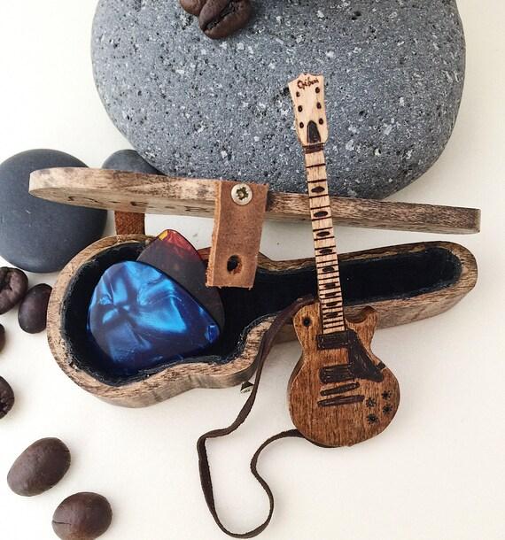 electric guitar case wooden guitar pick holder. Black Bedroom Furniture Sets. Home Design Ideas