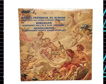 The London Symphony Orchestra - Schumann, Mendelssohn LP Record, 1966 Vintage Vinyl Record Album, classical, romantic