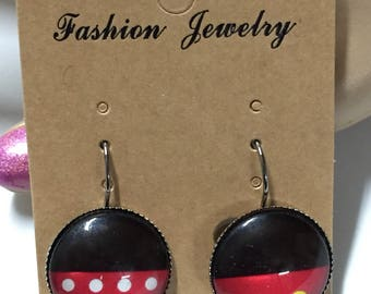 Minnie and Mickey dangle earrings