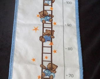 height Teddy embroidered new cross stitch