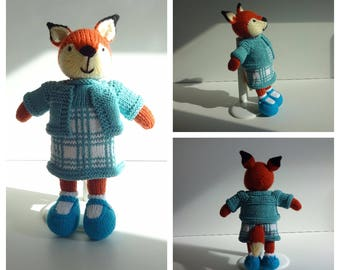 Knitted Girl Fox