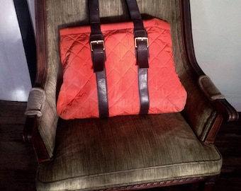 Vintage Talbots Quilted Tote