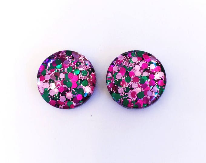 The 'Butterfly Wings' Glass Glitter Earring Studs