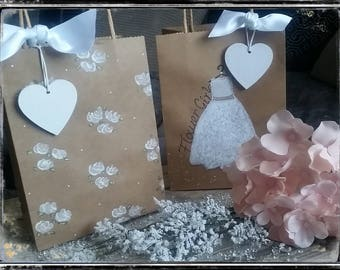 Hand painted flower girl / bridesmaid gift bags