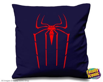Amazing Spider Man Blue Pillow Cover-Red Spider  - Amazing Spider Man Peter Parker Andrew Garfield - Gwen Stacy- Emma Stone -The Lizard