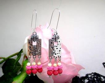 Ethnic earrings.