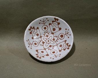 Ceramic plates, fish, plate of fish, fish decor, fish ornament, ethnic ornament, folk, white plate, kitchen decor, small plate, fish pattern