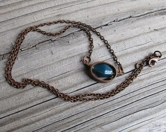 Copper and Glass Necklace