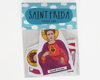 SAINT FRIDA KAHLO, Saint Frida stickers, Frida Kahlo stickers, Frida Kahlo sticker pack, Feminist stickers, lgbt stickers, viva Frida