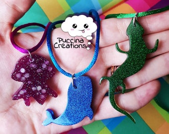 Resin Animals Necklace (Pet resin necklace Holografici)