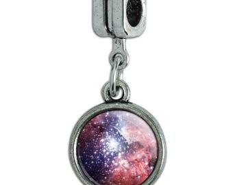 Nebula Space Galaxy Italian European Style Bracelet Charm Bead
