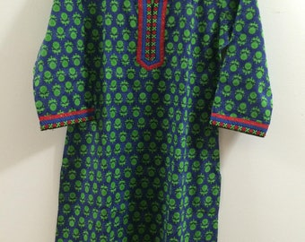 Indian Bollywood Long  kurta kurti Tunic Top