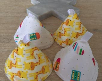 Pee pee teepee - baby wee wee teepee - baby pee pee shield -set of four (4)