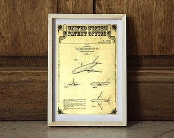 Boeing 737 Patent, Airplane Patent, Airplane Print, Pilot Gift, Aircraft Decor, Airplane Poster, Aviation Art, Boeing Patent