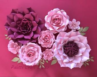 Paper flowers/ paper flower backdrop/home decor/ nursery decoration/ wedding flowers/ bridal shower/ baby shower/paper flower wall decor