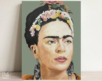 Frida Kahlo Portrait - Frida Kahlo Poster - Fine Art Print - Original Frida Print - Frida Art - Frida Kahlo Art - Watercolor