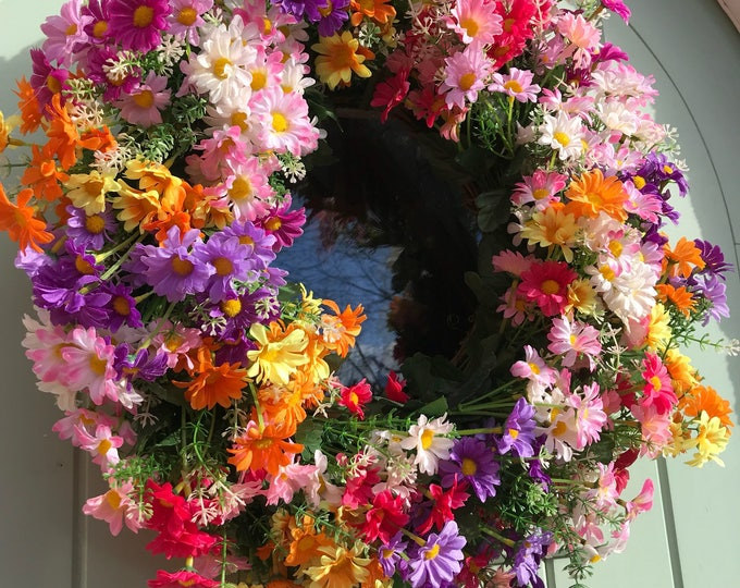 Daisy spring wreath