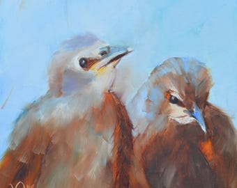Starling painting//Best Buds//Bird Paintings