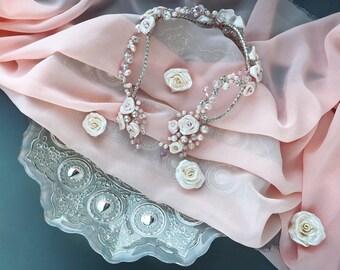 pearl bride hair crown, wedding pearl crown, bridal hair accessories,pearl hair vine, bridesmaids, hair band, hair pin, bride hair piece
