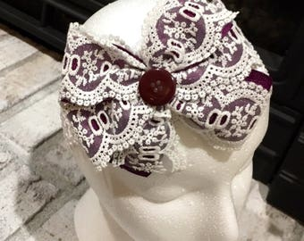 Large lace and ribbon bow