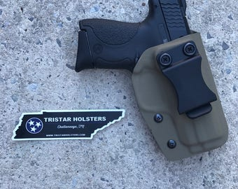SALE Kydex Smith and Wesson M&P Shield Inside the Waistband Holster (10 Colors Available)