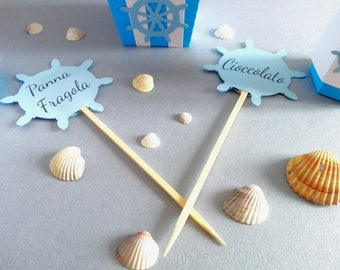 "Sea theme for flavor cards ""confettata"""