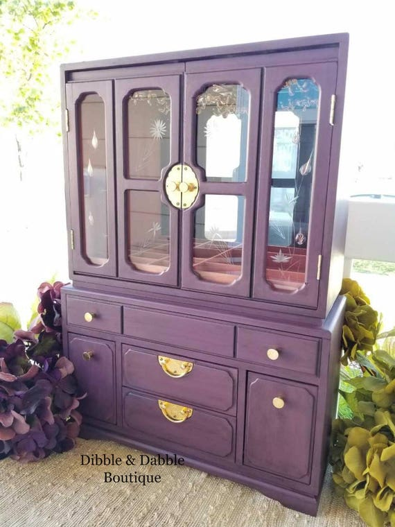 Extra Large Jewelry Armoire Jewelry Cabinet OOAK Vintage