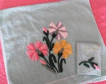 Vintage Cannon Chenille Bath Towel and Washcloth Set