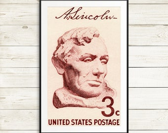 Lincoln, Abraham Lincoln, Lincoln bust, President Lincoln, Lincoln Stamp, US Presidents, Lincoln postage stamp, US history stamp, USA stamps