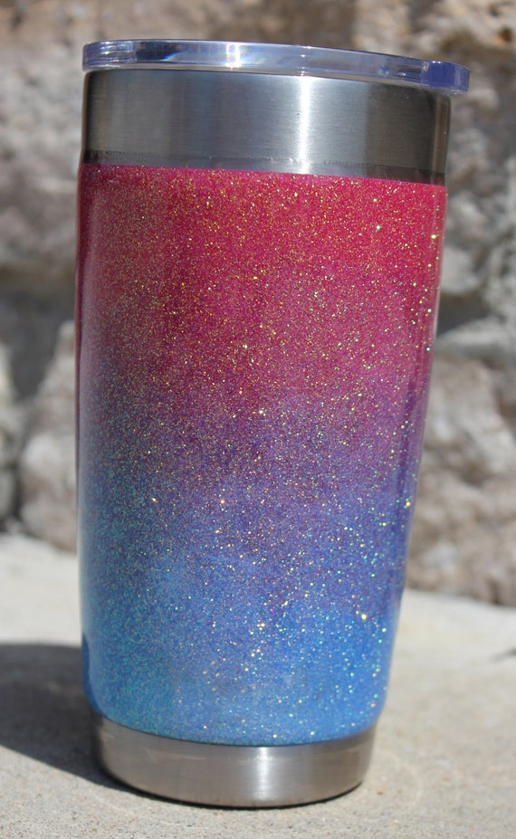 20 Oz Ozark Trail Ombre Glitter Tumbler 20 Oz Made To Order