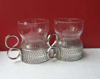 A Set Of Two TSAIKKA Shot Glasses In An Original Package, Designed By Timo Sarpaneva For Iittala