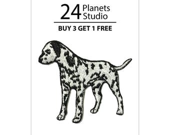 Dalmatian Iron on Patch by 24PlanetsStudio Cute Applique Cute Patch dog patch dogs