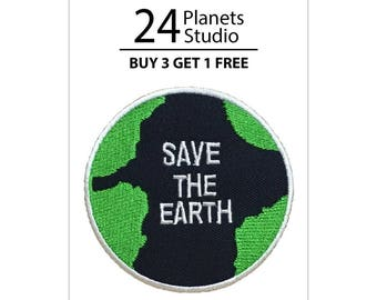 Save The Earth Iron on Patch by 24PlanetsStudio