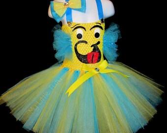 Flounder Halloween Tutu Costume, Fish Costume, Halloween Costume, Halloween Tutu, Halloween Dress, Custom Outfit, Flounder Costume, Flounder
