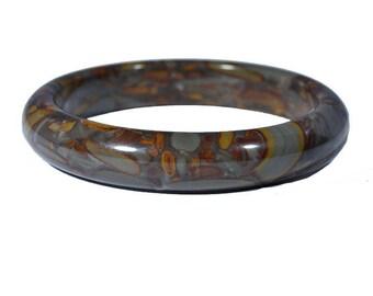 Bamboo Jasper Stone Bangle Bracelet