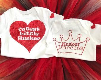 Husker Tutu outfits for your little Princess!  Nebraska Cornhuskers, Go Big Red, Husker Football, Tutu, Little Husker, Husker Princess