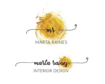 Gold Premade Logo Design, Luxury Design, Fashion Logo, Branding, Photography, Luxury Logo, Business Logo, Fashion Blogger Logo  JRAZ_014