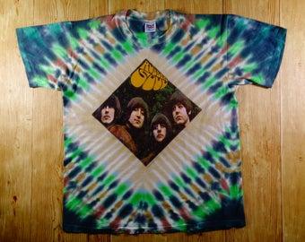 Vintage 1996 The BEATLES Rubber Soul Tie Dye Shirt Large Rare