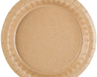 "25Ct 9"" Coated Kraft Paper Plate, Paper Plates, Plates, Party Supplies, Party. Party Tableware, Wedding, Wedding Supplies, Decor, Kraft"