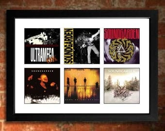 SOUNDGARDEN Vinyl Albums Limited Edition Unframed A4 Art Print mini poster