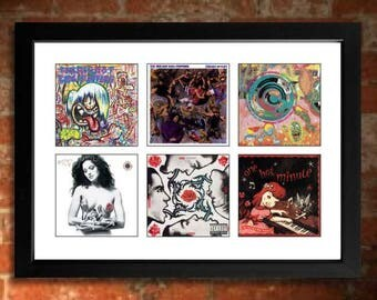 Red Hot Chilli Peppers Vinyl Albums Limited Edition Unframed A4 Art Print