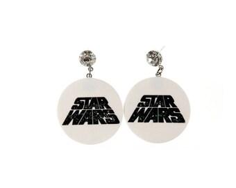Star Wars glitter logo earrings