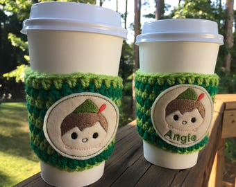 Peter Pan Inspired Coffee Cozy