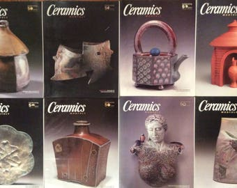 Ceramics Monthly Magazines - 8 Issues from 2003