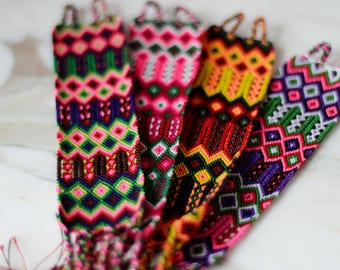 Embroidered Friendship Bracelets Woven Bracelets Mexican Gifts for Her Bohemian Jewelry Beach Jewelry Arm Party Hippie Bohemian Chic Boho