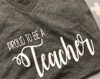 Proud To Be A Teacher Shirt