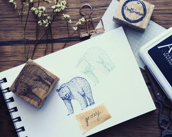 BEAR Rubber Stamp [Grizzly001]